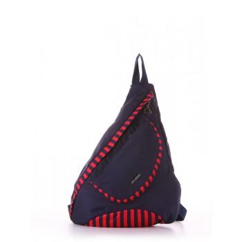 фото рюкзак Alba Soboni 183822 синий/красная полоса купить