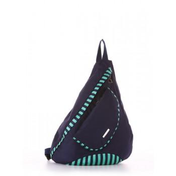 фото рюкзак Alba Soboni 183823 синий/зелёная полоса купить