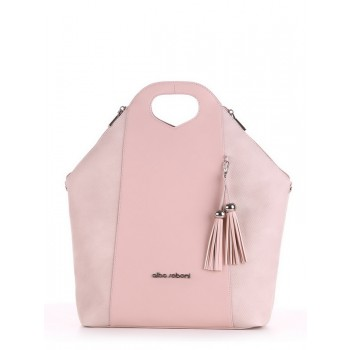 фото сумка Alba Soboni 190036 бежевый-розовый купить