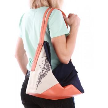 фото сумка Alba Soboni 190371 синий-оранжевый купить