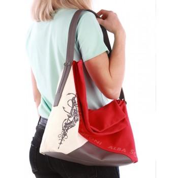 фото сумка Alba Soboni 190372 красный-темно-серый купить