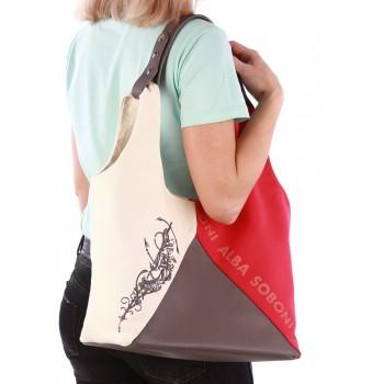 фото сумка Alba Soboni 190382 красный-темно-серый купить