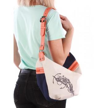 фото сумка Alba Soboni 190391 синий-оранжевый купить