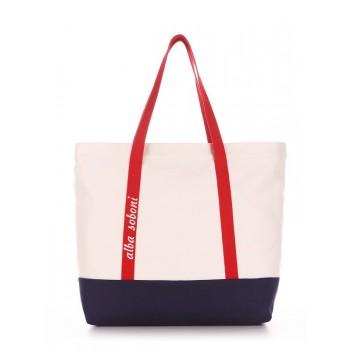 фото сумка Alba Soboni 190445 молочный-синий купить