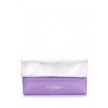 фото косметичка POOLPARTY 2nite-silver-violet купить