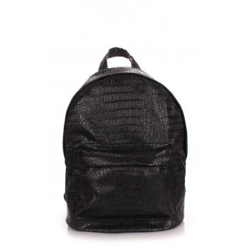 фото рюкзак POOLPARTY backpack-croco-black купить