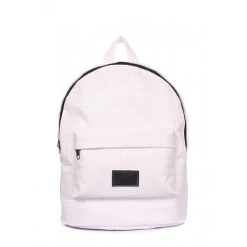 фото рюкзак POOLPARTY backpack-croco-white купить
