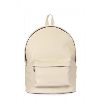фото рюкзак POOLPARTY backpack-leather-beige купить