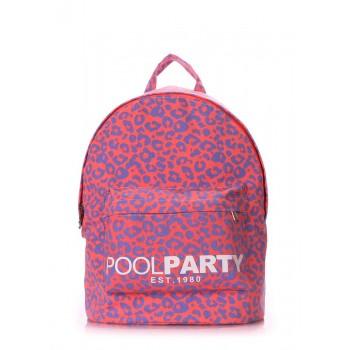 фото рюкзак POOLPARTY backpack-leo-pink купить