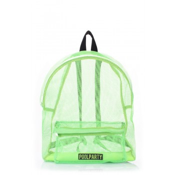 фото рюкзак POOLPARTY backpack-mesh-green купить