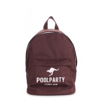 фото рюкзак POOLPARTY backpack-oxford-brown купить