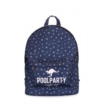 фото рюкзак POOLPARTY backpack-planes-darkblue купить