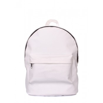 фото рюкзак POOLPARTY backpack-pu-white купить