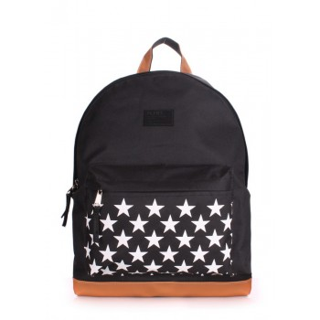 фото рюкзак POOLPARTY backpack-stars-black купить