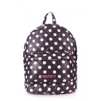 фото рюкзак POOLPARTY backpack-theone-black-dots купить