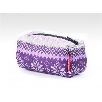 фото косметичка POOLPARTY cosmetic-snowflakes-violet купить