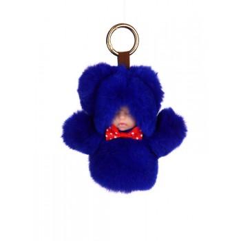 фото брелок Alba Soboni кукла в меху синий купить