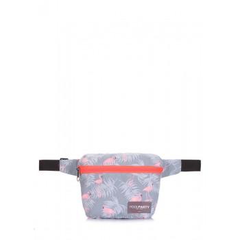 фото сумка на пояс POOLPARTY fanny-flamingo купить
