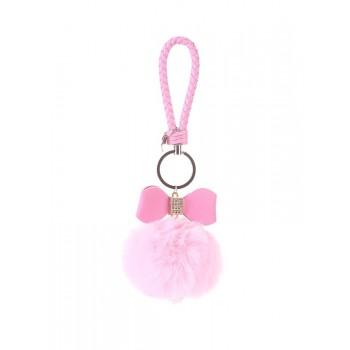 фото брелок Alba Soboni меховый шар с бантом розовый купить