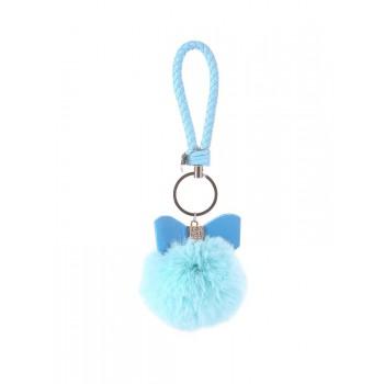 фото брелок Alba Soboni меховый шар с бантом голубой купить