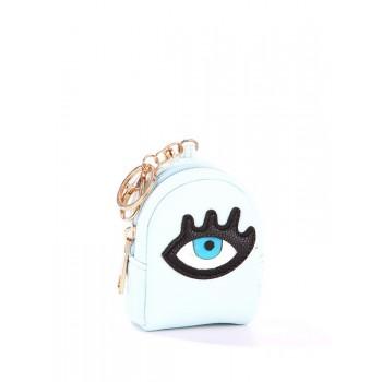 фото брелок Alba Soboni мини рюкзак глаз голубой купить