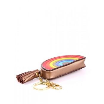 фото брелок Alba Soboni мини сумочка радуга бронзовая купить