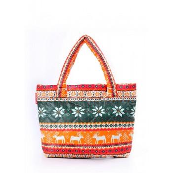фото сумка POOLPARTY pool-69-green-orange купить