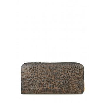 фото кошелек POOLPARTY crocodile-wallet-brown купить