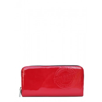 фото кошелек POOLPARTY poolparty-laquer-red-wallet купить