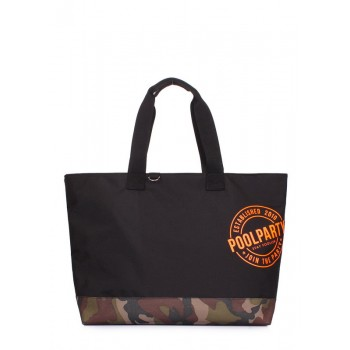 фото сумка POOLPARTY riot-black-camo купить